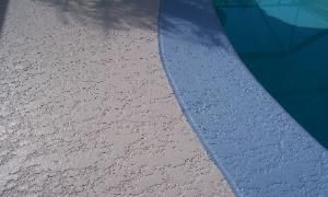 painted pool deck