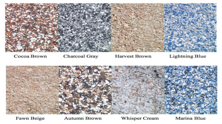Decorative Garage Floor Color Charts Tampa Sarasota